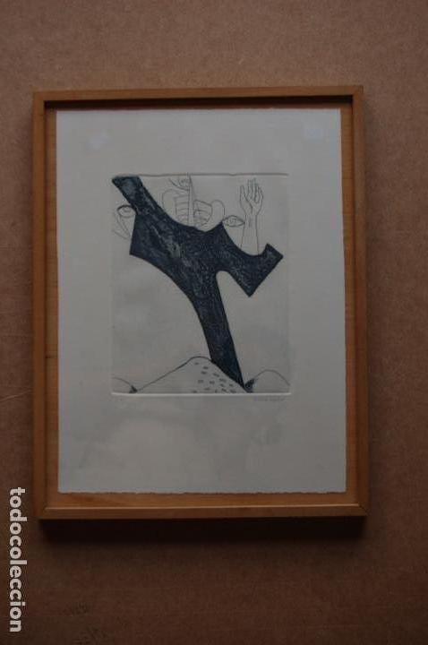 Arte: Pascual Casaubón.Huéscar 1944. Grabado de 22x 17,5 (plancha) en 38x28.27/50. Buen estado. - Foto 7 - 167528592