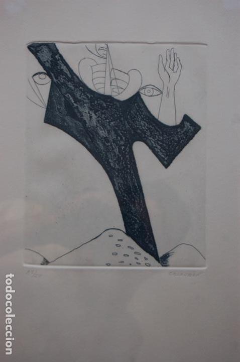 PASCUAL CASAUBÓN.HUÉSCAR 1944. GRABADO DE 22X 17,5 (PLANCHA) EN 38X28.27/50. BUEN ESTADO. (Arte - Grabados - Contemporáneos siglo XX)
