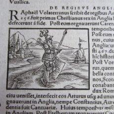 Arte: 1556-PREDICADOR SANTO TOMÁS.RAFAEL DE VOLTERRA. GRABADO ORIGINAL. Lote 167614240