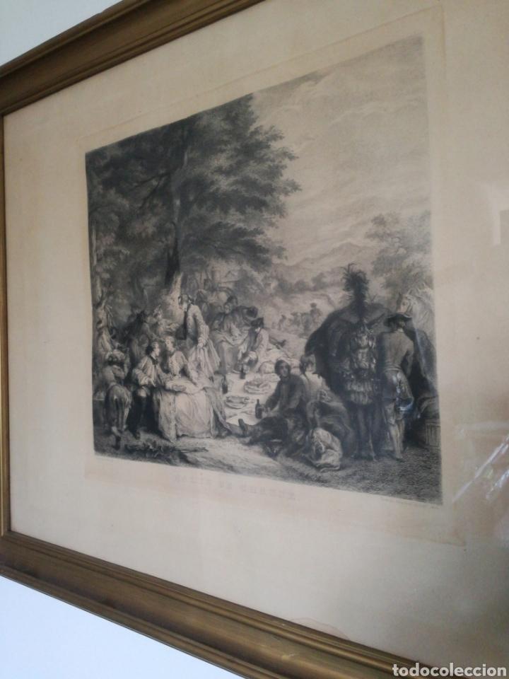 GRABADO ENMARCADO APAISADO (Arte - Grabados - Contemporáneos siglo XX)