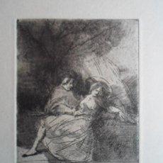 Arte: MIGUEL CONDÉ (1939 PITTSBURGH EE.UU) GRABADO PAREJA 12X8 PAPEL 38X29CMS, FIRMADO Y DEDICADO EN PARÍS. Lote 167832452