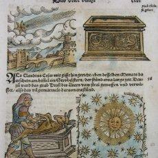 Arte: 7 GRABADOS DE AUGURIOS Y PRESAGIOS VI, 1557. LYCOSTHENES/PETRI. Lote 167861337