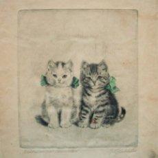 Arte: META PLUCKEBAUM (1876-1945). GRABADO 36 X 33 CM. FIRMADO A LÁPIZ Y TITULADO.. Lote 167898732