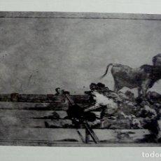 Arte: GRABADO TAUROMAQUIA GOYA. Lote 167947240