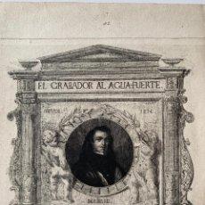 Arte: AGUAFUERTE JOSÉ MARTÍNEZ ESPINOSA. Lote 168055149
