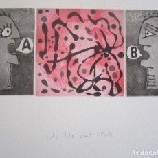 Arte: HABLEMOS DE POLLOCK - COLLAGE DE GRABADOS DE GAP (GUILLERMO ANTÓN PARDO) - 40X30 CM. Lote 168083584