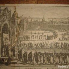 Arte: GRABADO PROCESIÓN DE HEREJES EN GOA, INDIA, INQUISICIÓN PORTUGUESA, PICART, ORIGINAL, PARIS, 1809. Lote 168209208