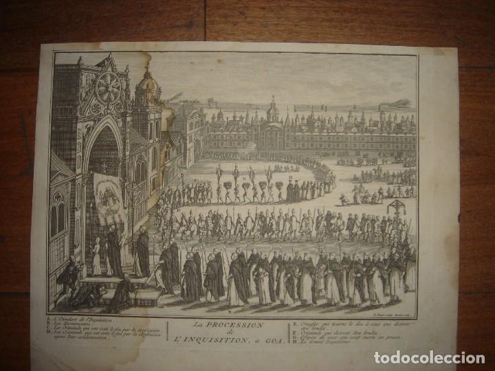 Arte: GRABADO PROCESIÓN DE HEREJES EN GOA, INDIA, INQUISICIÓN PORTUGUESA, PICART, ORIGINAL, PARIS, 1809 - Foto 2 - 168209208