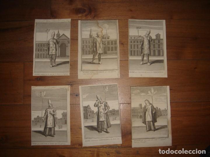 ESPLÉNDIDO LOTE 6 GRABADOS, HEREJES, INQUISICIÓN ESPAÑOLA, PICART, ORIGINAL,PARIS, 1809,GRAN PRECIO (Arte - Grabados - Modernos siglo XIX)