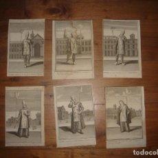 Arte: ESPLÉNDIDO LOTE 6 GRABADOS, HEREJES, INQUISICIÓN ESPAÑOLA, PICART, ORIGINAL,PARIS, 1809,GRAN PRECIO. Lote 168224912