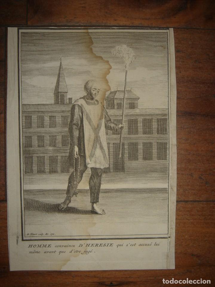 Arte: ESPLÉNDIDO LOTE 6 GRABADOS, HEREJES, INQUISICIÓN ESPAÑOLA, PICART, ORIGINAL,PARIS, 1809,GRAN PRECIO - Foto 3 - 168224912