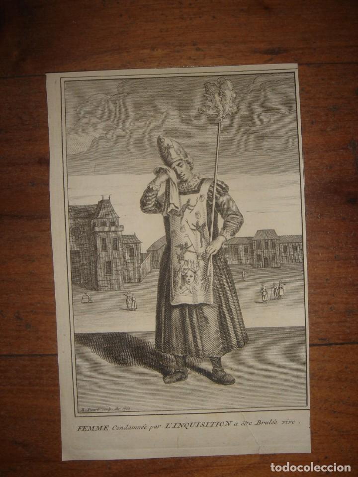 Arte: ESPLÉNDIDO LOTE 6 GRABADOS, HEREJES, INQUISICIÓN ESPAÑOLA, PICART, ORIGINAL,PARIS, 1809,GRAN PRECIO - Foto 4 - 168224912