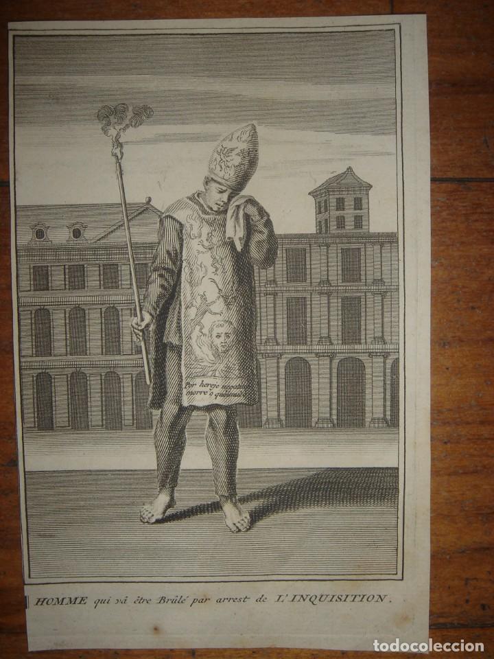 Arte: ESPLÉNDIDO LOTE 6 GRABADOS, HEREJES, INQUISICIÓN ESPAÑOLA, PICART, ORIGINAL,PARIS, 1809,GRAN PRECIO - Foto 5 - 168224912
