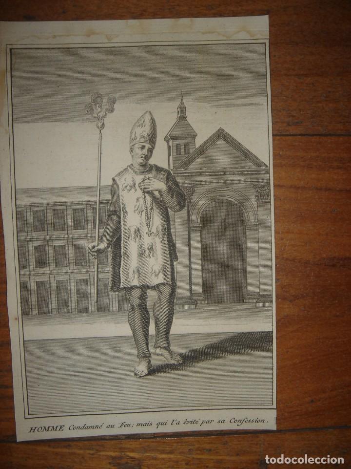 Arte: ESPLÉNDIDO LOTE 6 GRABADOS, HEREJES, INQUISICIÓN ESPAÑOLA, PICART, ORIGINAL,PARIS, 1809,GRAN PRECIO - Foto 7 - 168224912