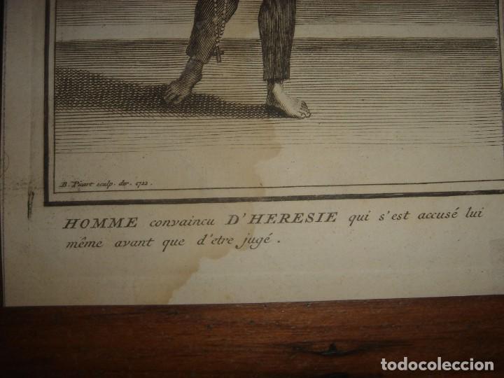 Arte: ESPLÉNDIDO LOTE 6 GRABADOS, HEREJES, INQUISICIÓN ESPAÑOLA, PICART, ORIGINAL,PARIS, 1809,GRAN PRECIO - Foto 15 - 168224912