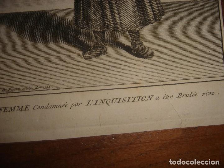 Arte: ESPLÉNDIDO LOTE 6 GRABADOS, HEREJES, INQUISICIÓN ESPAÑOLA, PICART, ORIGINAL,PARIS, 1809,GRAN PRECIO - Foto 16 - 168224912