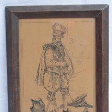 Arte: BONITO GRABADO DIBUJO ENMARCADO CON FIRMA. AÑO 1948.. Lote 168297784