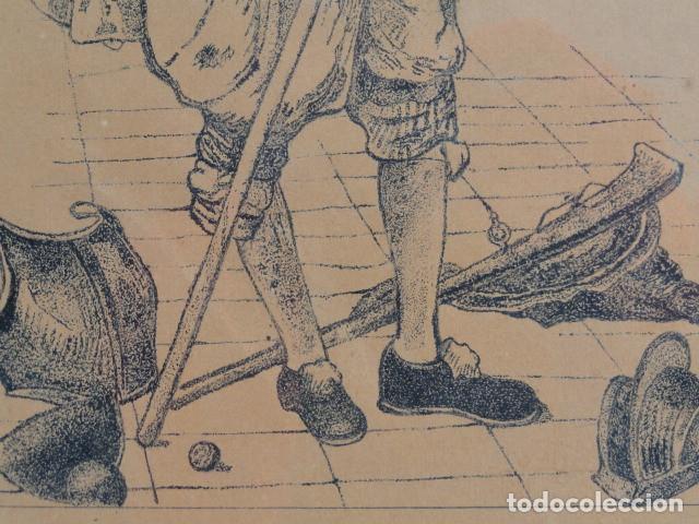 Arte: BONITO GRABADO DIBUJO ENMARCADO CON FIRMA. AÑO 1948. - Foto 6 - 168297784