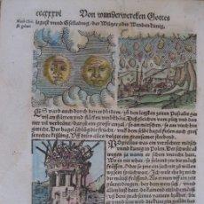 Arte: 7 GRABADOS DE AUGURIOS Y PRESAGIOS XV, 1557. LYCOSTHENES/PETRI. Lote 168369352