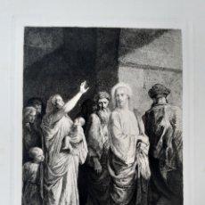 Arte: JESÚS. JESUCRISTO. IMAGEN BÍBLICA. GRABADO PRINCIPIOS S.XX .. Lote 168769576