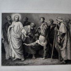 Arte: JESÚS. JESUCRISTO. IMAGEN BÍBLICA. GRABADO PRINCIPIOS S.XX. Lote 168769721