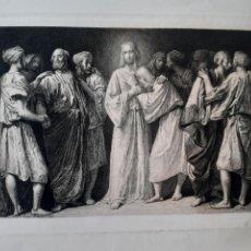 Arte: JESÚS. JESUCRISTO. IMAGEN BÍBLICA. GRABADO PRINCIPIOS S.XX .. Lote 168770433
