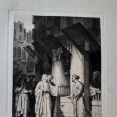 Arte: JESÚS. JESUCRISTO. ESCENA BÍBLICA. GRABADO PRINCIPIOS S.XX.. Lote 168770754