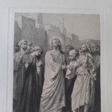 Arte: JESÚS. JESUCRISTO CON EL PUEBLO. GRABADO ORIGINAL PRINCIPIOS S.XX.. Lote 168770932