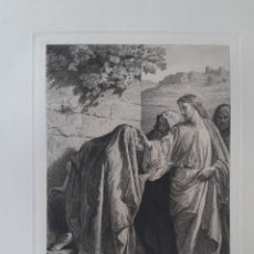 Arte: JESÚS. JESUCRISTO CON LOS MENDIGOS. GRABADO ORIGINAL. PRINCIPIOS S.XX.. Lote 168771048