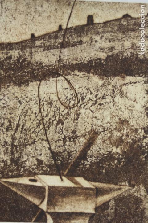 Arte: Antoni Miró, grabado, prueba de artista, tiraje 1 / 25, firmado. 35x26cm - Foto 2 - 168799580