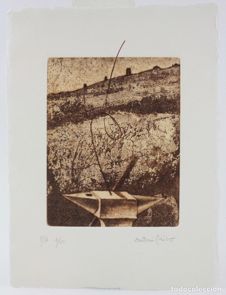 ANTONI MIRÓ, GRABADO, PRUEBA DE ARTISTA, TIRAJE 1 / 25, FIRMADO. 35X26CM (Arte - Grabados - Contemporáneos siglo XX)