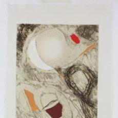 Arte: JOSEP GUINOVART, GRABADO, PRUEBA DE ARTISTA, ILUMINADO A MANO, 1996, TIRAJE 1 / 10, FIRMADO. 35X26CM. Lote 168800312