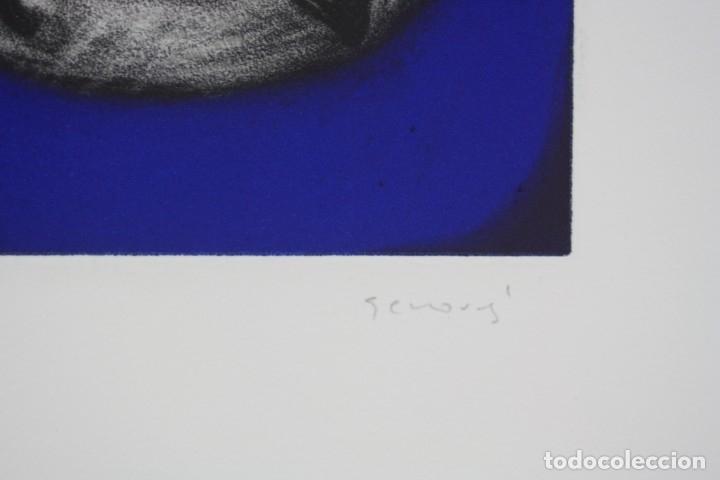 Arte: Juan Genovés, grabado, Cooper - Acción, prueba de artista, tiraje 1 / 15, firmado. 35x26cm - Foto 4 - 168800724