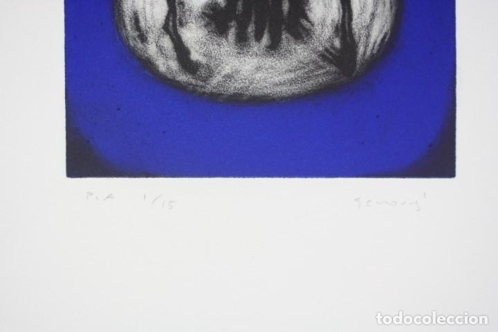 Arte: Juan Genovés, grabado, Cooper - Acción, prueba de artista, tiraje 1 / 15, firmado. 35x26cm - Foto 3 - 168800724
