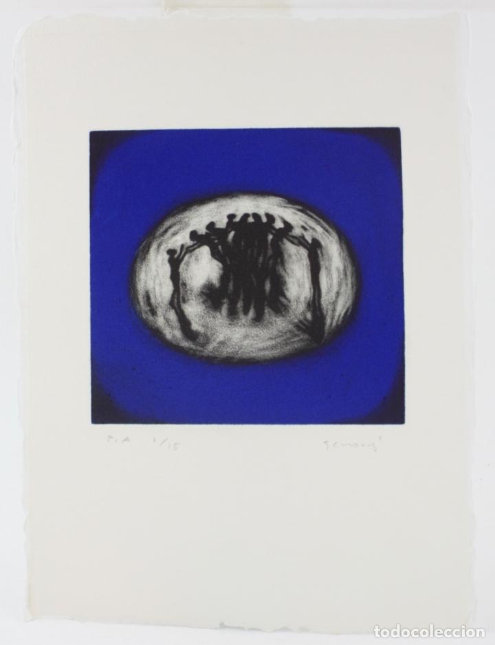 JUAN GENOVÉS, GRABADO, COOPER - ACCIÓN, PRUEBA DE ARTISTA, TIRAJE 1 / 15, FIRMADO. 35X26CM (Arte - Grabados - Contemporáneos siglo XX)
