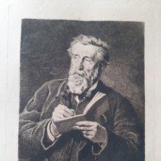 Arte: GRABADO ORIGINAL. RETRATO DE MR. HARPIGNIES. FINALES S.XIX.. Lote 168880570