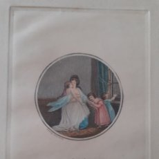 Arte: GRABADO ORIGINAL S.XIX. LA RÉCRÉATION.. Lote 168890300