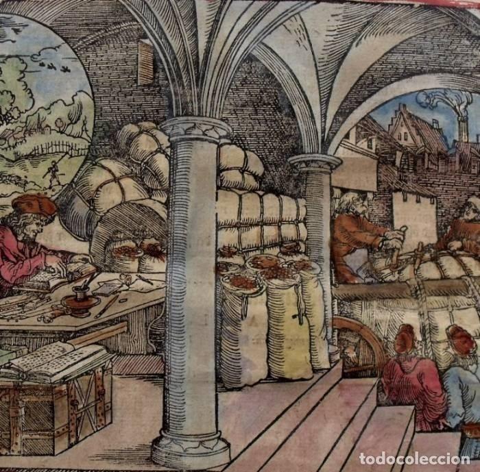 LA CASA DEL COMERCIANTE Y CAMINANTES , 1532. HANS WEIDITZ (Arte - Grabados - Antiguos hasta el siglo XVIII)