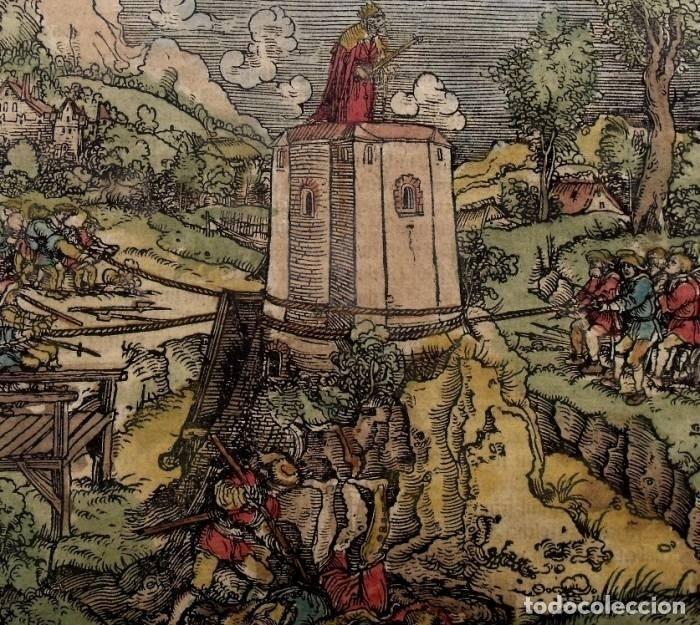 EL REY EN SU TORRE DE MARFIL, 1532. HANS WEIDITZ (Arte - Grabados - Antiguos hasta el siglo XVIII)
