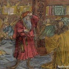 Arte: ESCENA ALEGÓRICA: BIBLIOTECA MEDIEVAL ARDIENDO, 1532. HANS WEIDITZ. Lote 169048292