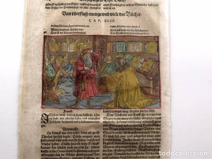 Arte: Escena alegórica: Biblioteca medieval ardiendo, 1532. Hans Weiditz - Foto 3 - 169048292