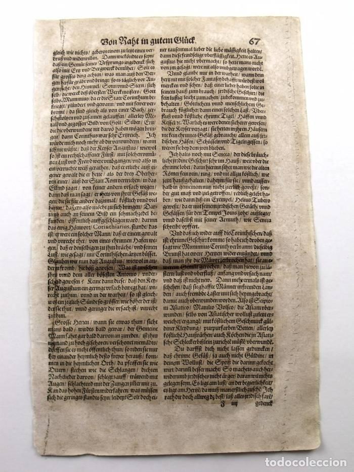 Arte: Escena alegórica: Biblioteca medieval ardiendo, 1532. Hans Weiditz - Foto 4 - 169048292