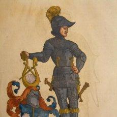 Arte: 2 GRABADOS DE CABALLEROS DEL RENACIMIENTO, 1580. HANS WEIDITZ. Lote 169052612