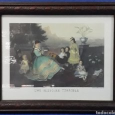 Arte: GRAVADO ENMARCADO UNE HISTORIE TERRIBLE. Lote 169088884