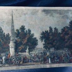 Arte: GRABADO AGUAFUERTE COLOREADO 15 OCTUBRE 1797 FIESTA MANTUA CARLE VERNET NAPOLEON S XIX 1822 28X41,5C. Lote 169101520