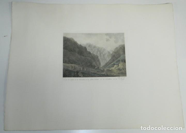 Arte: GRABADO COLOREADO DE FERNANDO BRAMBILA. La Gran Expedición Malaspina, VISTA DE CALLEJON DE LA GUARDI - Foto 2 - 169161584