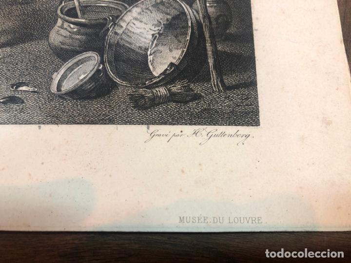 Arte: LOTE ANTIGUO GRABADO LOS FUMADORES Y DES JOUEURS DE CARTES - MEDIDA 44X33 CM Y 41X30 CM - Foto 3 - 169326444