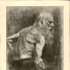 Arte: 1887 - ORIGINAL - ESTUDIO DE D. WIDHOPF - LA ILUSTRACIÓN ARTISTICA. Lote 169446116