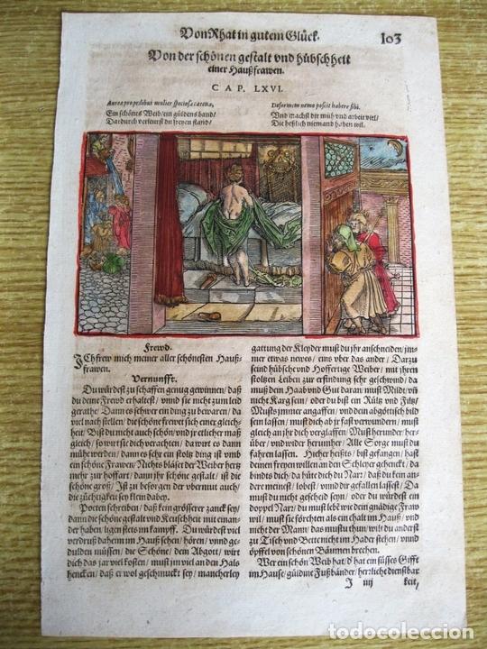 Arte: 2 grabados: escena erótica y familiar 1532. Hans Weiditz - Foto 4 - 169468285