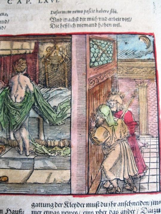 Arte: 2 grabados: escena erótica y familiar 1532. Hans Weiditz - Foto 6 - 169468285